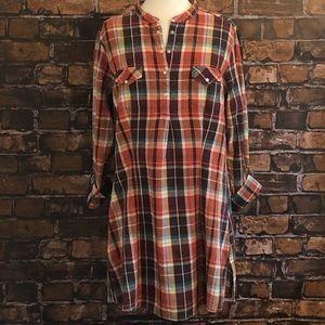 Wrangler Button Down Plaid Shirt Dress XL